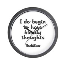 Bloody Thoughts Wall Clock