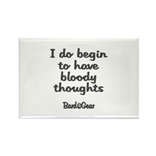 Bloody Thoughts Rectangle Magnet (10 pack)