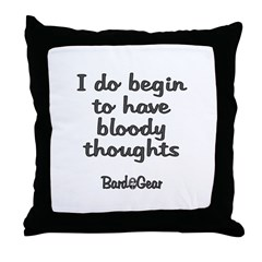 Bloody Thoughts Throw Pillow