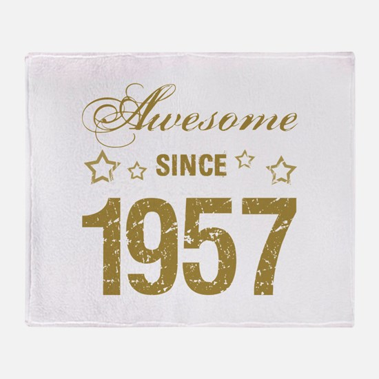 Awesome Since 1957 Throw Blanket