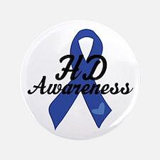 H D Huntingtons Awareness Button