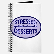 Stressed is Desserts logo - blue Journal