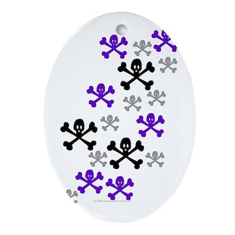Skull'n'CrossbonesSwarm Oval Ornament