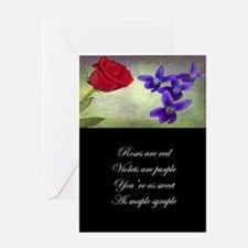 Sweet as Maple Syruple Greeting Cards