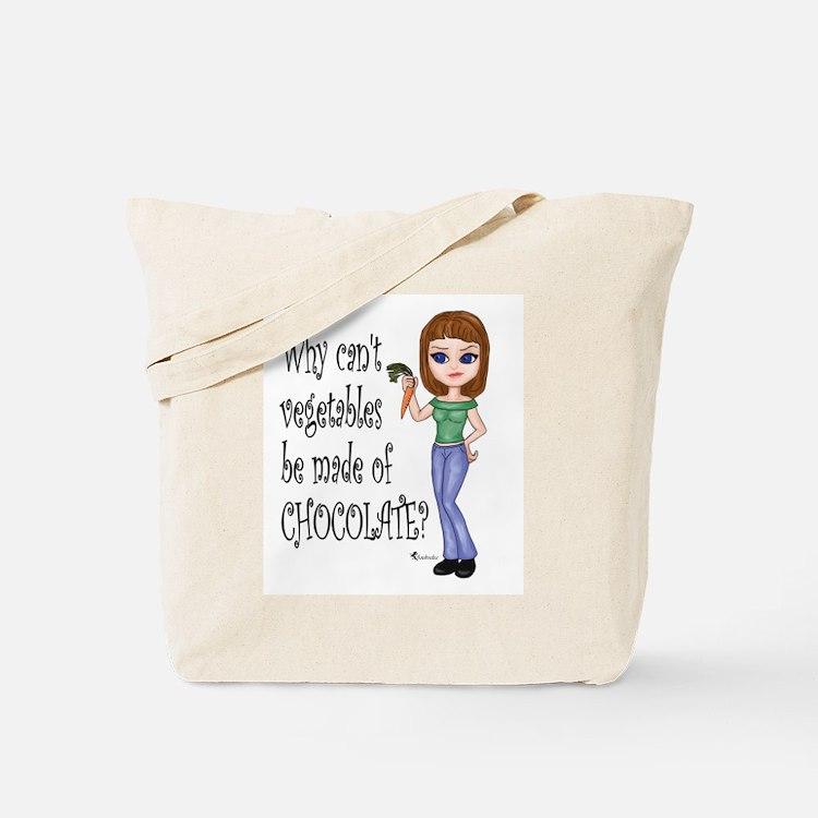 Chocolate Veggies Tote Bag