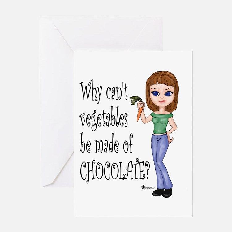 Chocolate Veggies Greeting Card