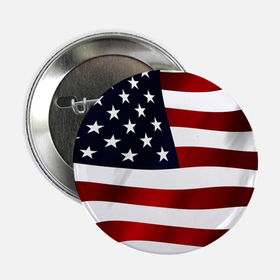 "Waving American Flag 2.25"" Button (10 pack)"