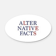 Alternative Facts Oval Car Magnet