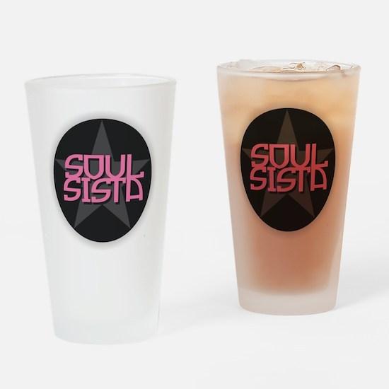 Soul Sista Drinking Glass