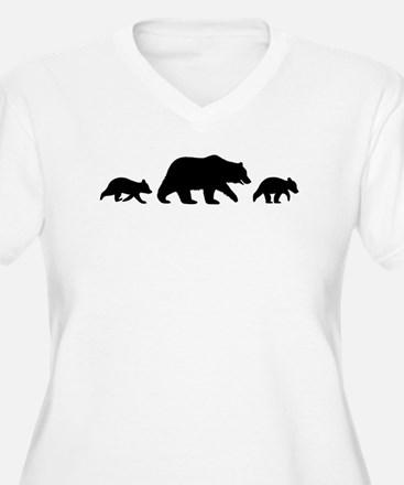 Grizzly Bear with Cubs Plus Size T-Shirt