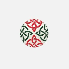 Christmas Trinity Knot Mini Button