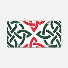 Christmas Trinity Knot Aluminum License Plate