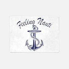 blue anchor feeling nauti 5'x7'Area Rug