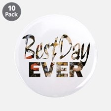 """positive floral best day 3.5"""" Button (10 pack)"""