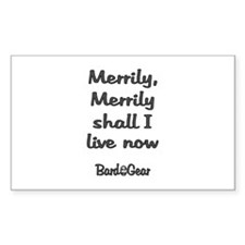 Merrily Live Rectangle Decal