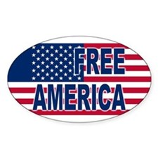 Free America Oval Decal