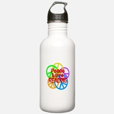Peace Love Reading Water Bottle