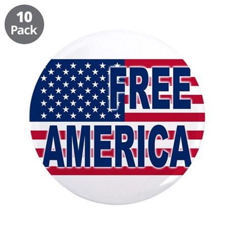 """Free America 3.5"""" Button (10 pack)"""