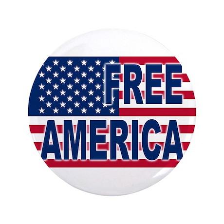 """Free America 3.5"""" Button"""