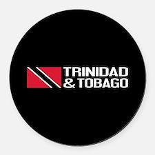 Trinidad & Tobago Flag Round Car Magnet