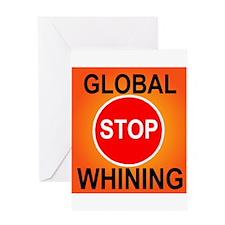 GLOBAL WHINING Greeting Card