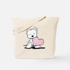 KiniArt Westie Warm Fuzzy Tote Bag