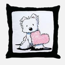 KiniArt Westie Warm Fuzzy Throw Pillow