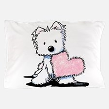 KiniArt Westie Warm Fuzzy Pillow Case
