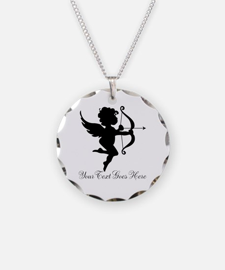 Valentines Day Gifts Cupid Necklace Circle Charm