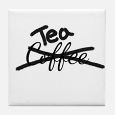 Crossed Out Coffee Tea Tile Coaster