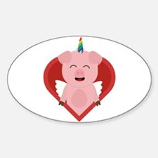 Unicorn Pig with Angelwings Decal