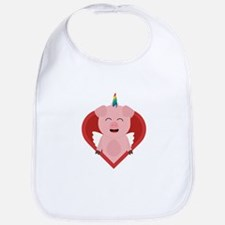 Unicorn Pig with Angelwings Baby Bib