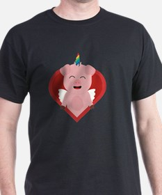 Unicorn Pig with Angelwings T-Shirt