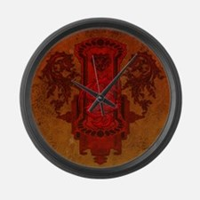 Chinese draon on button in red colors Large Wall C