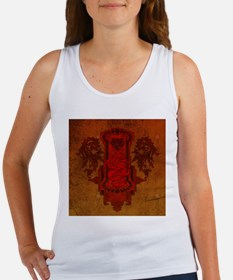Chinese draon on button in red colors Tank Top