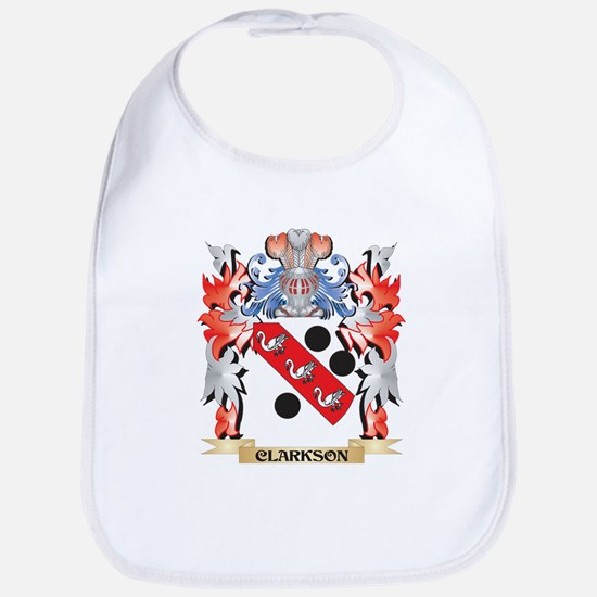 Clarkson Coat of Arms - Family Crest Baby Bib