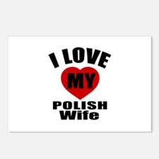 I Love My Polish Wife Postcards (Package of 8)