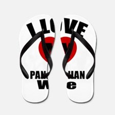 I Love My Panamanian Wife Flip Flops