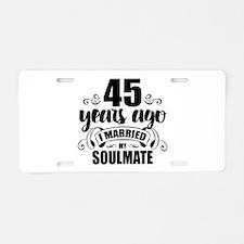 45th Anniversary Aluminum License Plate