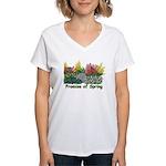 Promise of Spring Women's V-Neck T-Shirt