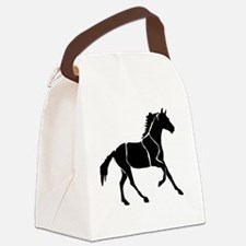 Black Horse Canter Canvas Lunch Bag