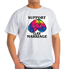 SUPPORT GAY MARRIAGE Ash Grey T-Shirt