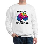 SUPPORT GAY MARRIAGE Sweatshirt