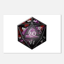 D20 plastic Postcards (Package of 8)
