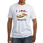 I Love Bagels Fitted T-Shirt