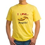 I Love Bagels Yellow T-Shirt