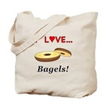 I Love Bagels Tote Bag
