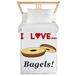 I Love Bagels Twin Duvet