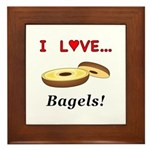 I Love Bagels Framed Tile