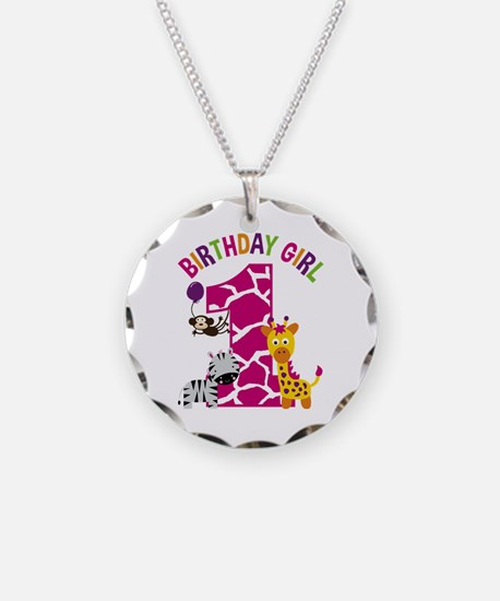 Girl Jungle 1st Birthday Necklace